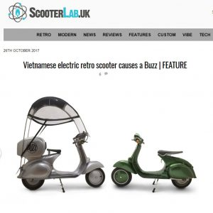 Feature Scooter Lab UK Magazine 26th October 2017